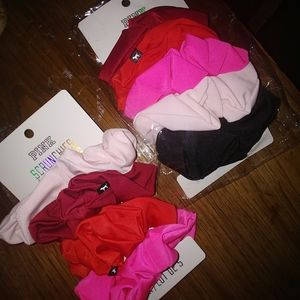 Pink VS scrunchies